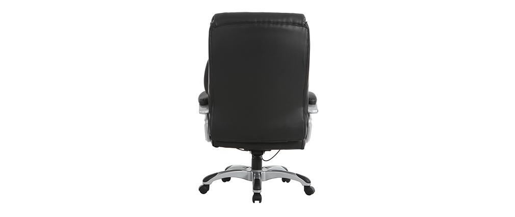Sillón de despacho ergonómico moderno negro MAGIST