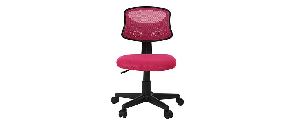 Sillón de despacho niño malla rosa - MEL