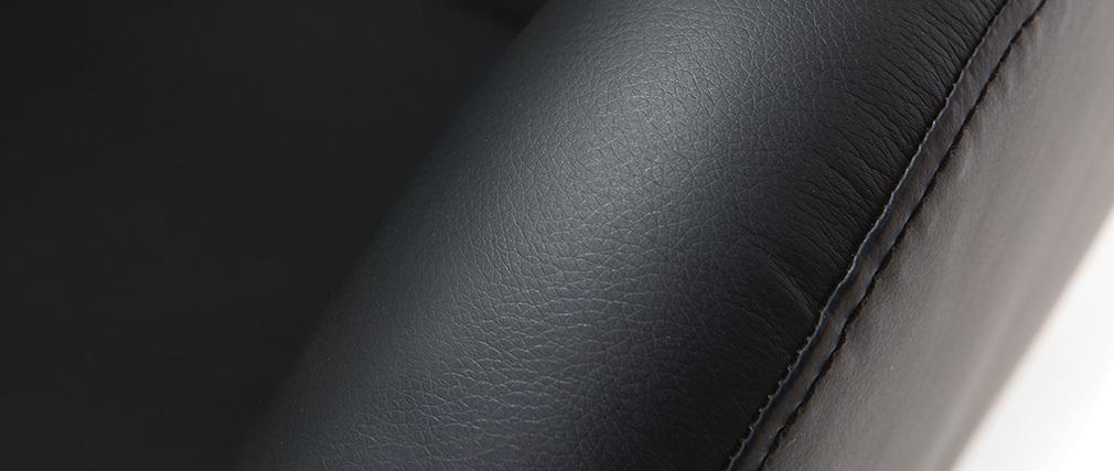 Sillón de diseño giratorio negro HAVEN