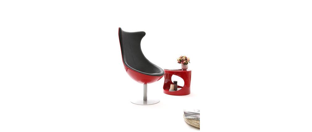Sillón de diseño rojo y negro RAYNI