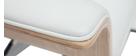 Sillón de escritorio blanco y madera clara ELON