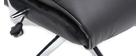 Sillón de escritorio cuero negro CITY - cuero de vaca