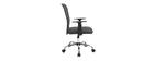 Sillón de escritorio diseño malla gris PLUZ
