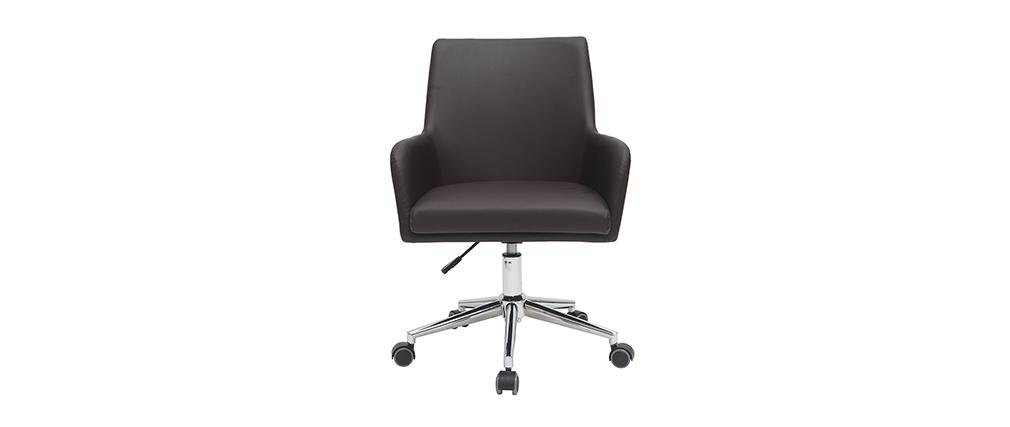 Sillón de escritorio diseño marrón SHANA