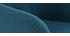 Sillón de escritorio diseño tejido azul petróleo BALTIK