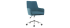 Sillón de escritorio diseño tejido azul petróleo SHANA