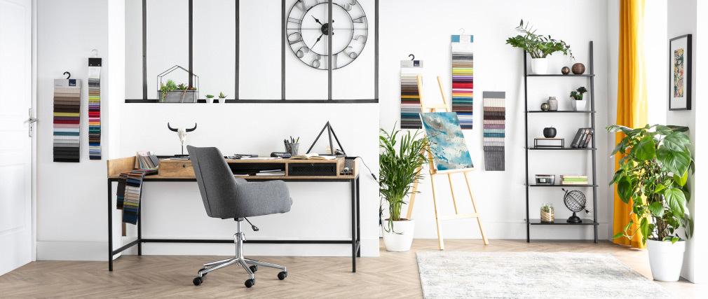 Sillón de escritorio diseño tejido gris antracita SHANA