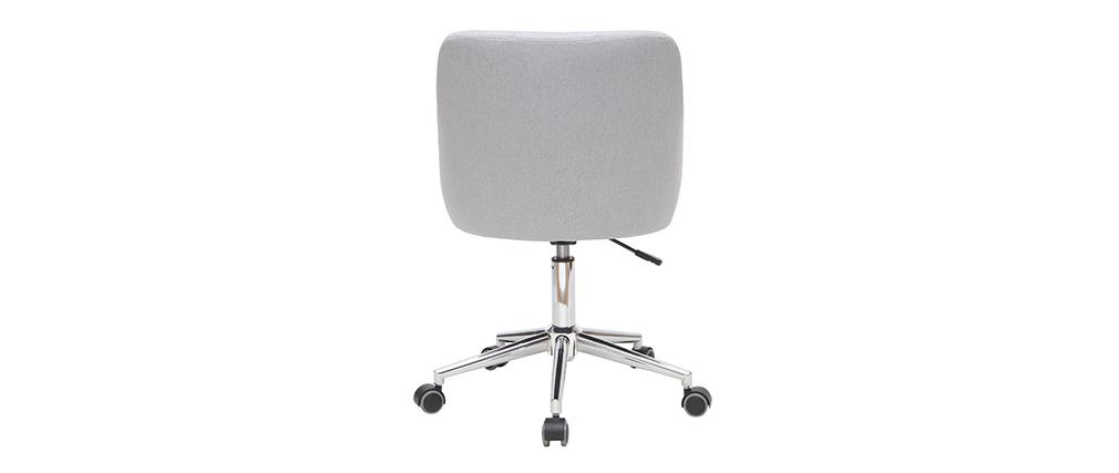 Sillón de escritorio diseño tejido gris claro BALTIK