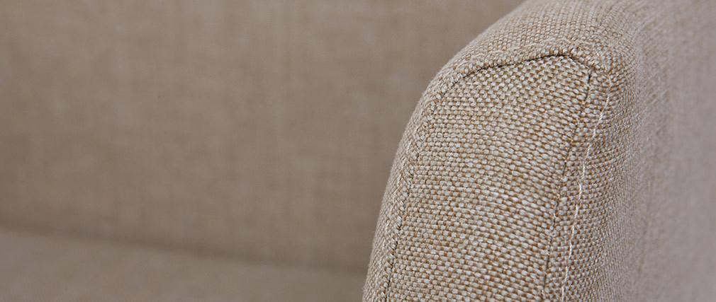 Sillón de escritorio  diseño tela beige ARIEL