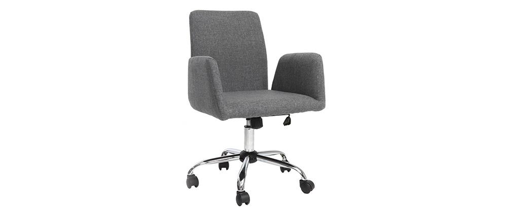Sillón de escritorio  diseño tela gris ARIEL