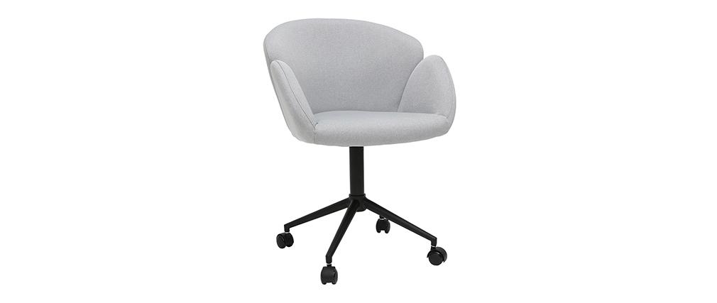 Sillón de escritorio en tejido gris claro RHAPSODY