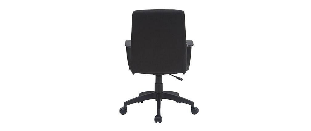 Sillón de escritorio en tejido negro CHUCK