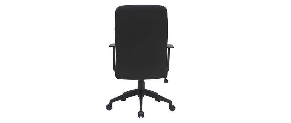 Sillón de escritorio en tejido negro ZELLY
