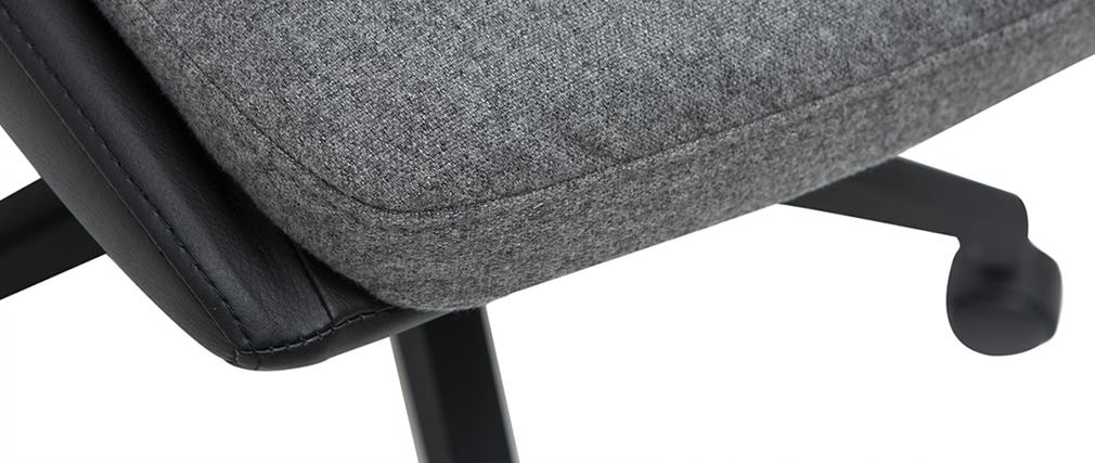 Sillón de escritorio gris oscuro y negro TIM