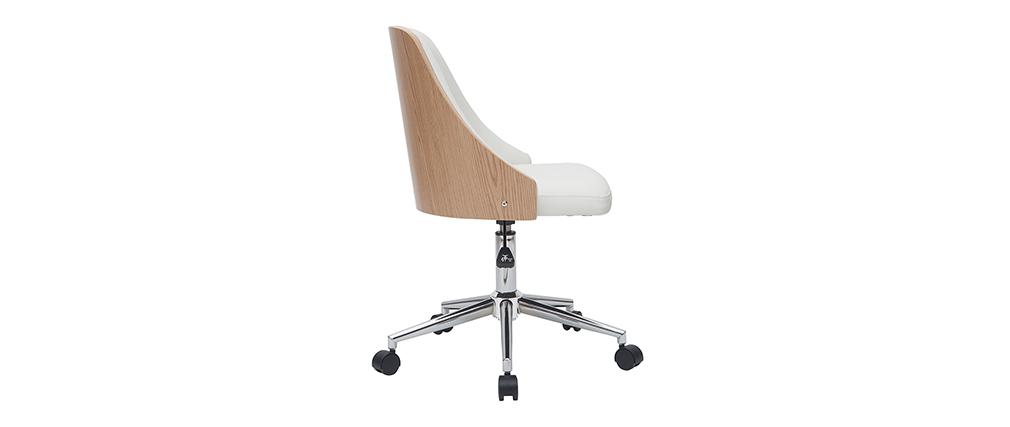 Sillón de escritorio moderno blanco QUINO