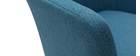Sillón de escritorio moderno en tejido azul petróleo ALEYNA