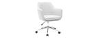 Sillón de escritorio moderno en tejido gris claro ALEYNA