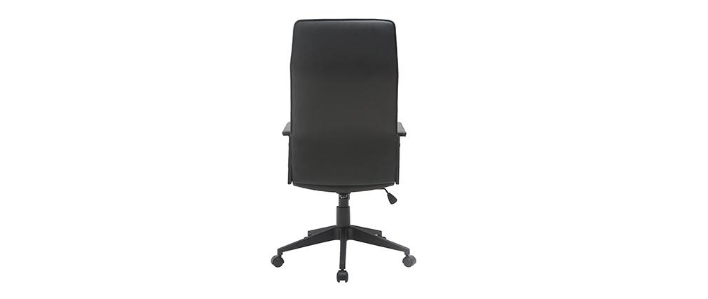 Sillón de escritorio moderno metal y poliuretano negro MARSHALL