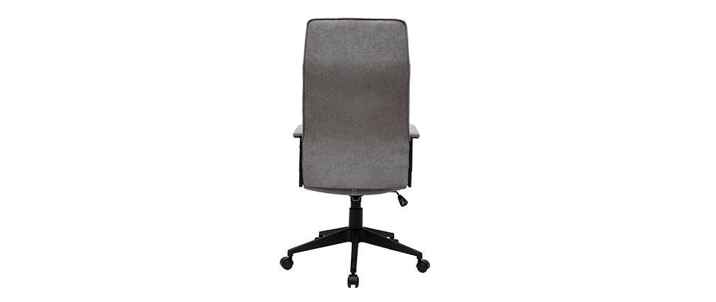 Sillón de escritorio moderno metal y tejido gris MARSHALL