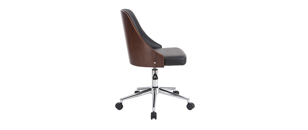 Sillón de escritorio moderno negro QUINO