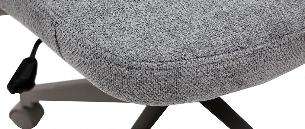 Sillón de escritorio moderno tejido gris RISTER
