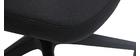 Sillón de escritorio moderno tejido negro RISTER