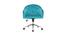 Sillón de escritorio terciopelo azul turquesa SHARON
