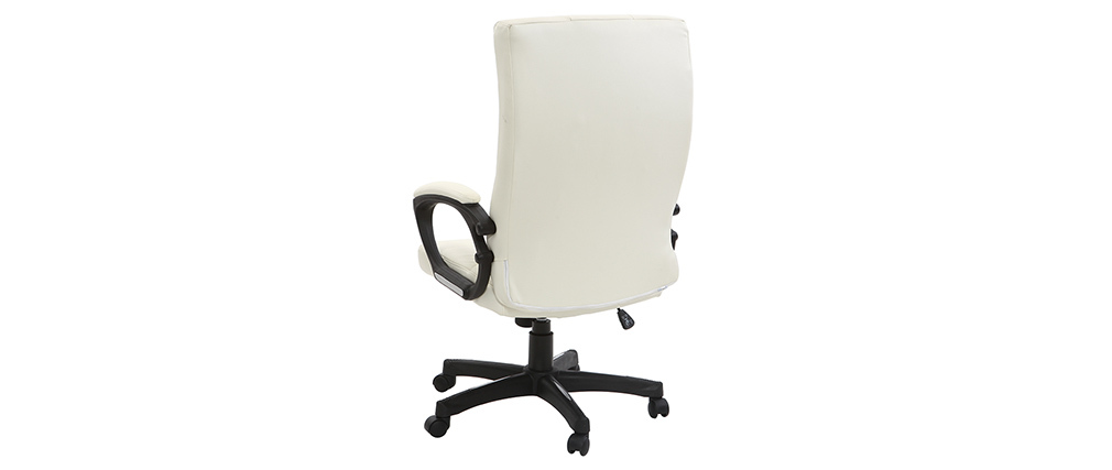 Sillón de oficina de diseño blanco LORENZO