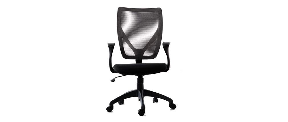 Sillón de oficina de diseño gris y negro PAOLO