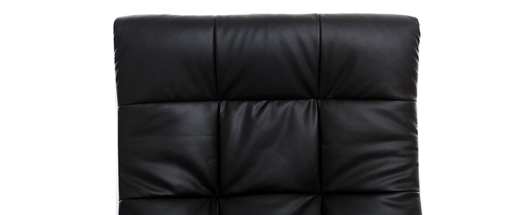 Sillón de oficina de diseño negro y blanco LORENZO