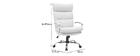 Sillón de oficina diseño cuero blanco TILIO