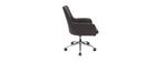 Sillón de oficina diseño marrón SHANA