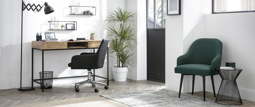 Sillón de oficina diseño PU negro SHANA