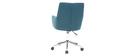 Sillón de oficina diseño tejido azul petróleo SHANA