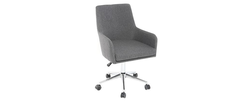 Sillón de oficina diseño tejido gris antracita SHANA
