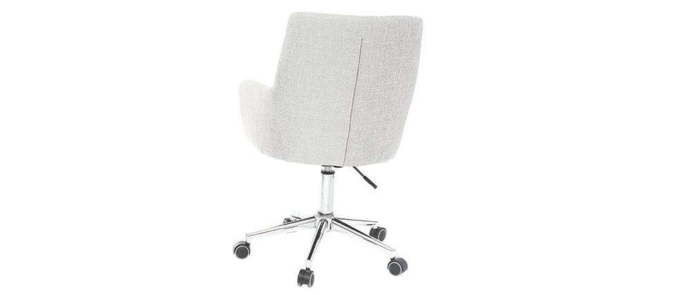Sillón de oficina diseño tejido gris SHANA