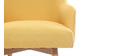 Sillón diseño amarillo patas madera clara MONA