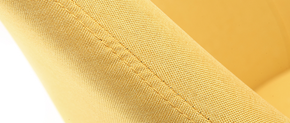 Sillón diseño amarillo patas madera oscura MONA