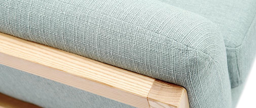 Sillón diseño azul lago patas madera YOKO