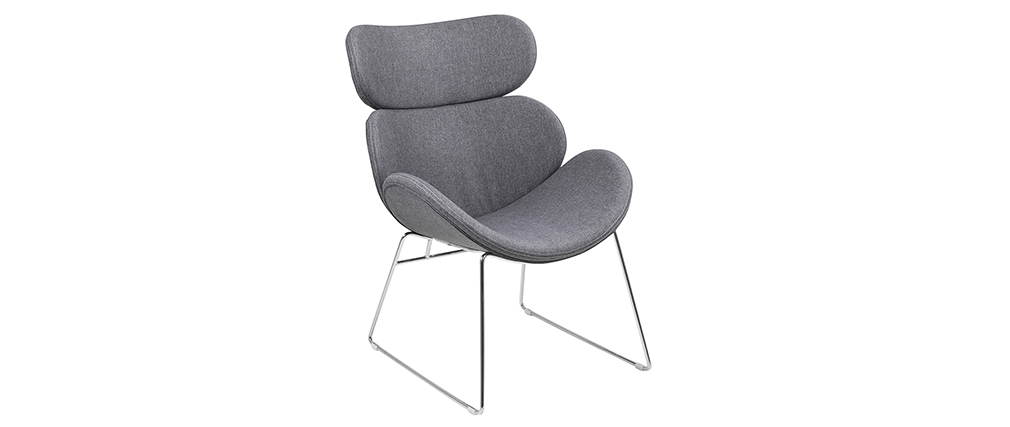 Sillón diseño contemporáneo gris claro GABRIEL