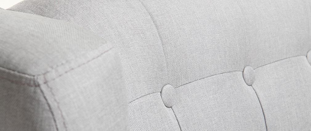 Sillón diseño escandinavo gris claro y madera clara BRIGHTON