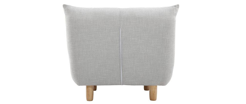 Sillón diseño escandinavo gris y roble YUMI