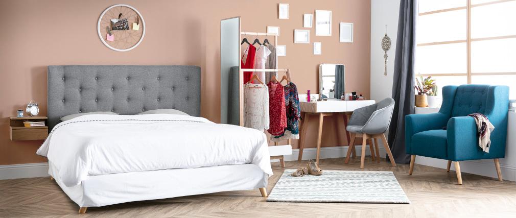 Sillón diseño escandinavo natural y madera clara BRIGHTON