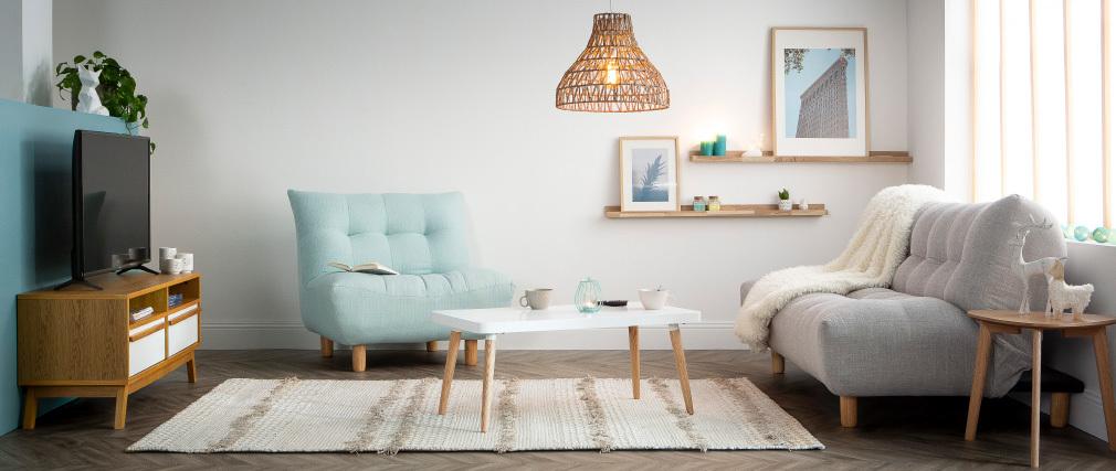 Sillón diseño escandinavo natural  YUMI