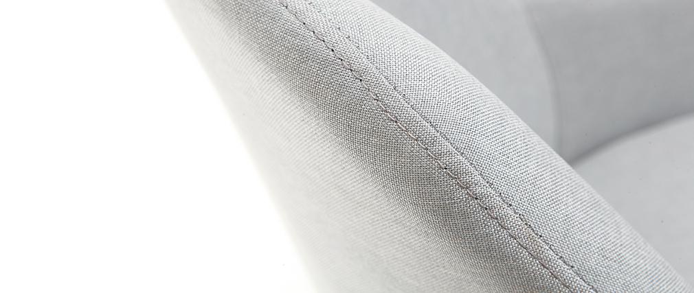 Sillón diseño gris patas madera clara MONA