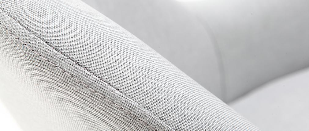 Sillón diseño gris patas madera oscura MONA