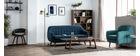 Sillón diseño haya y tejido azul petróleo OLAF