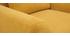 Sillón diseño tejido efecto terciopelo amarillo mostaza y patas roble  EKTOR