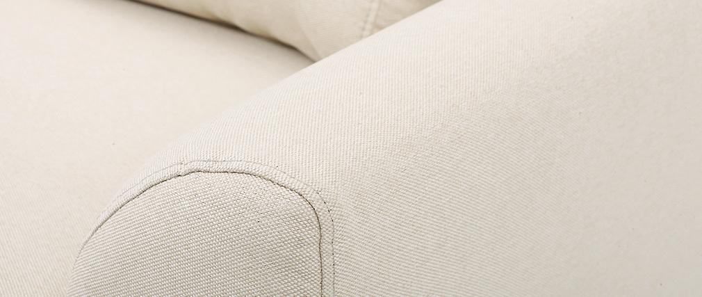 Sillón diseño tejido natural y patas roble EKTOR