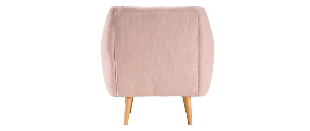 Sillón diseño tejido rosa OLAF